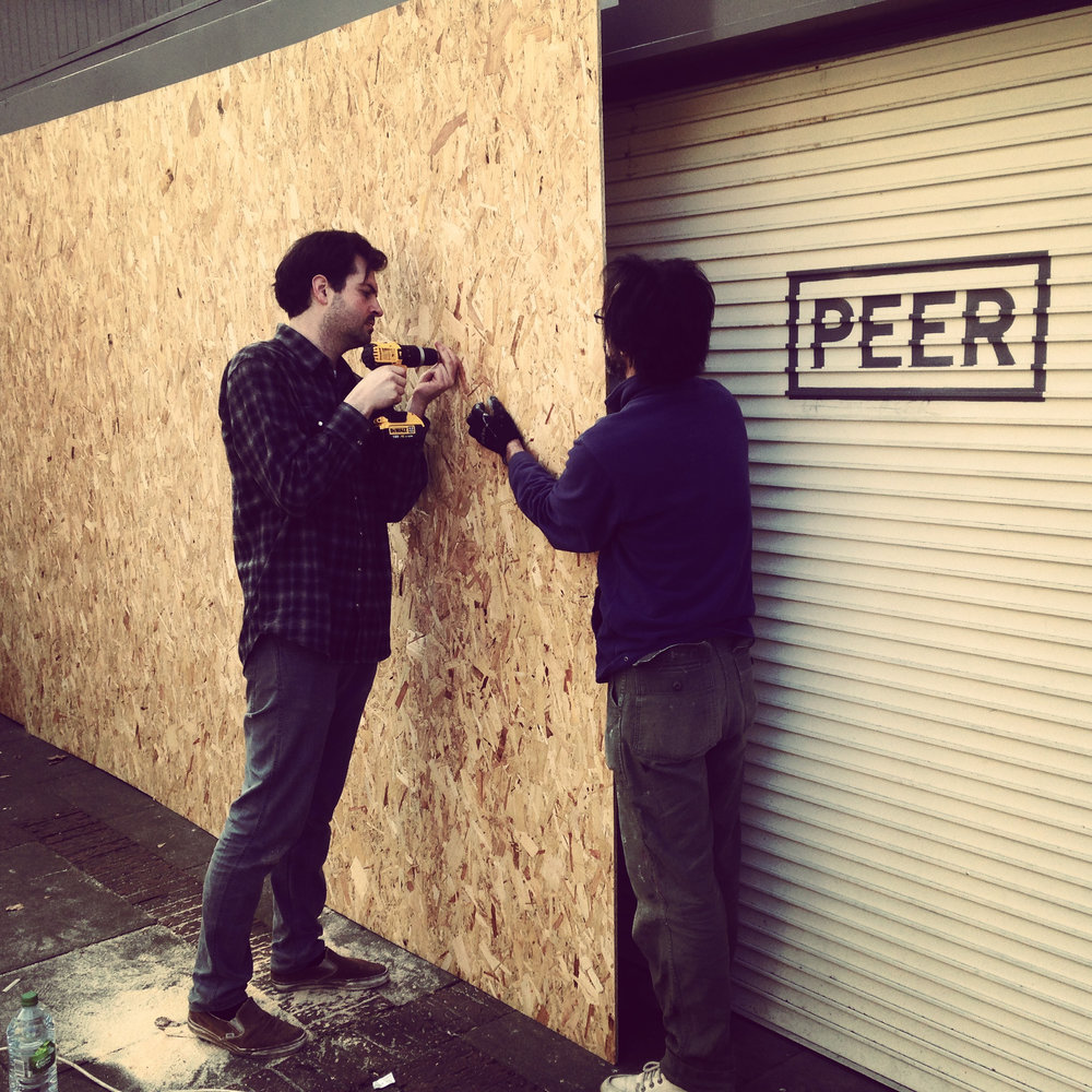 Dig Collective on the first day of Hoarding a project with Peer Gallery and Real Estates.