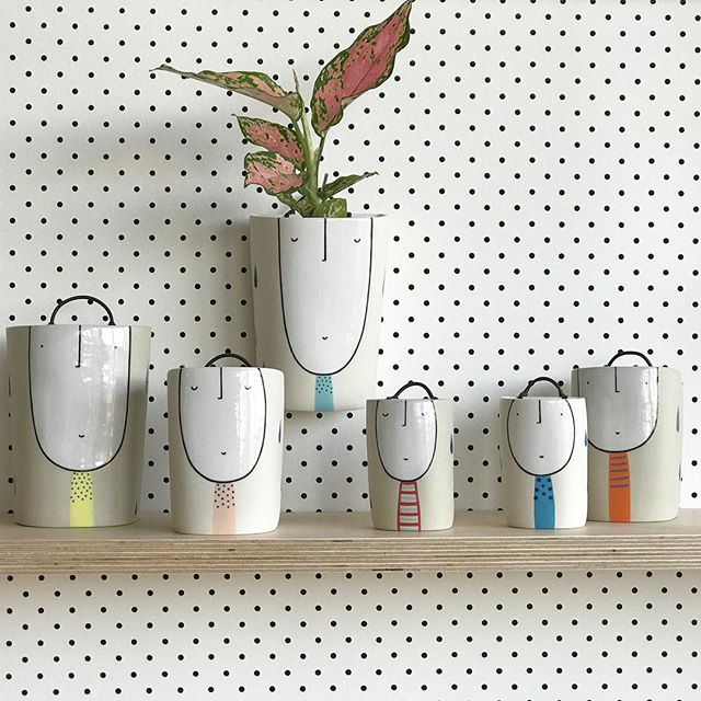 Wall planters appearing in my Thursday Shop Update, see link in profile for all the details