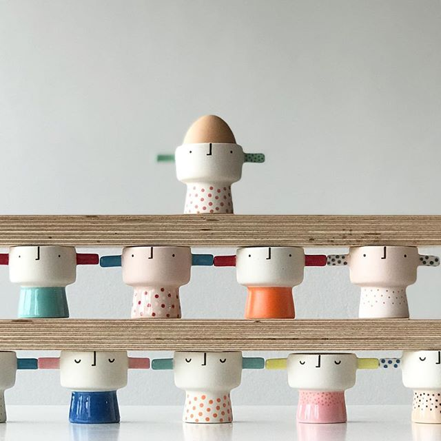 Egg Head Stack - Am posting a reminder a day for my April Shop Update next Thursday so no one can say they didn't get the message! See previous posts for info or follow the link in my profile