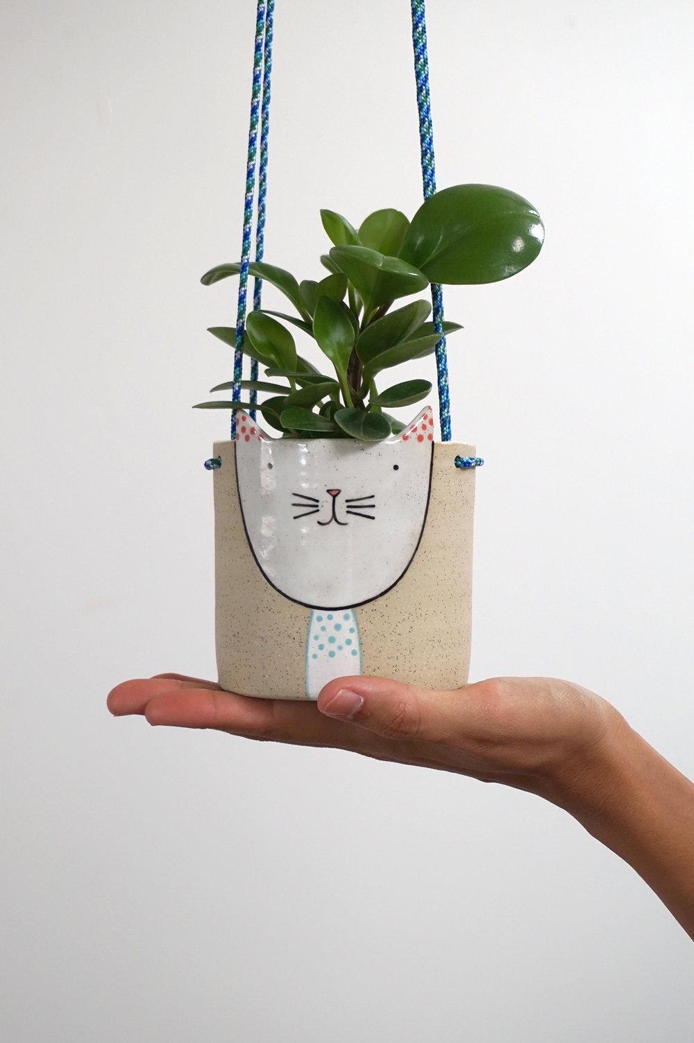Kitty Hanging Planter $85