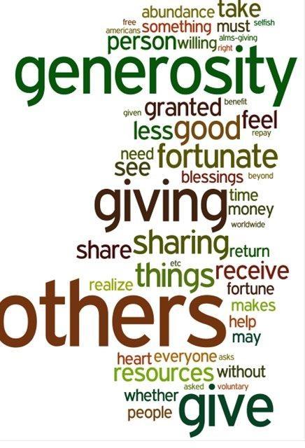 generousity