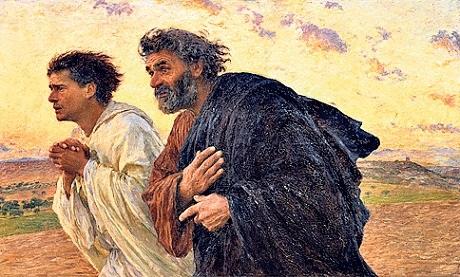 disciples running easter