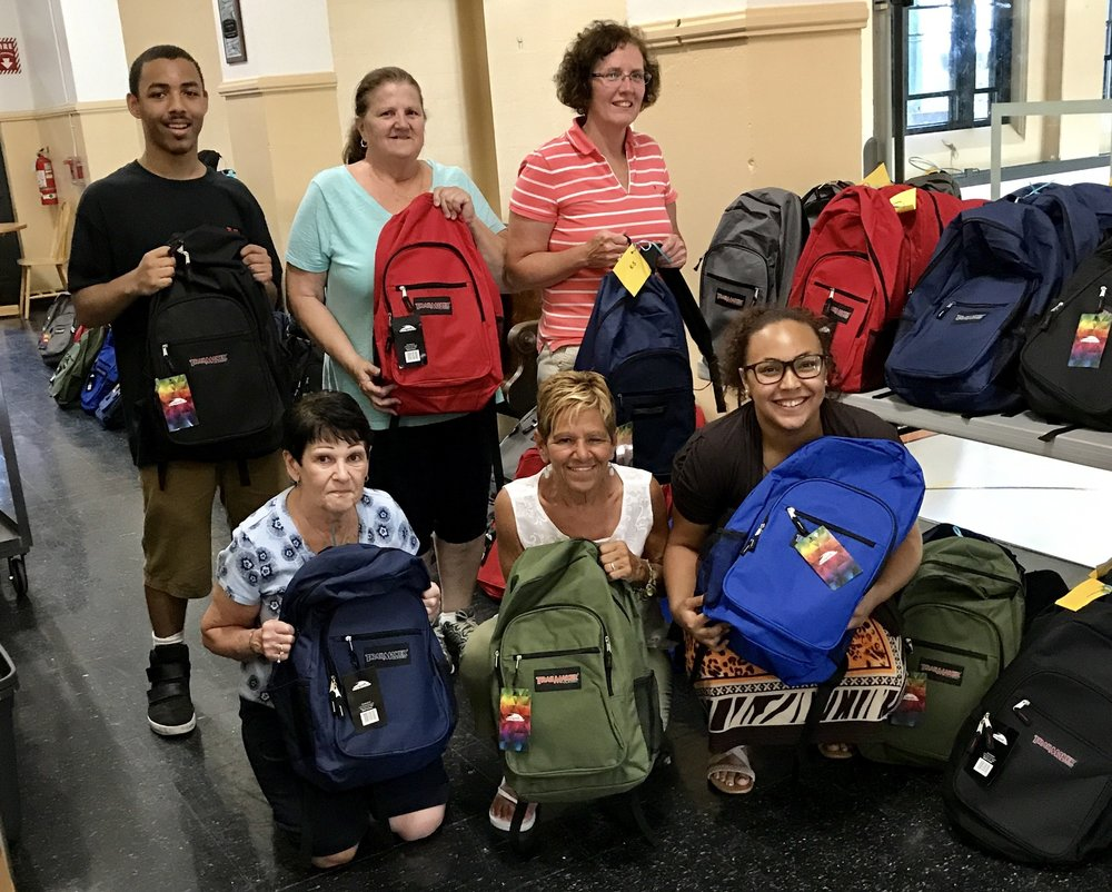 St. Patrick's Parishioners receive backpacks