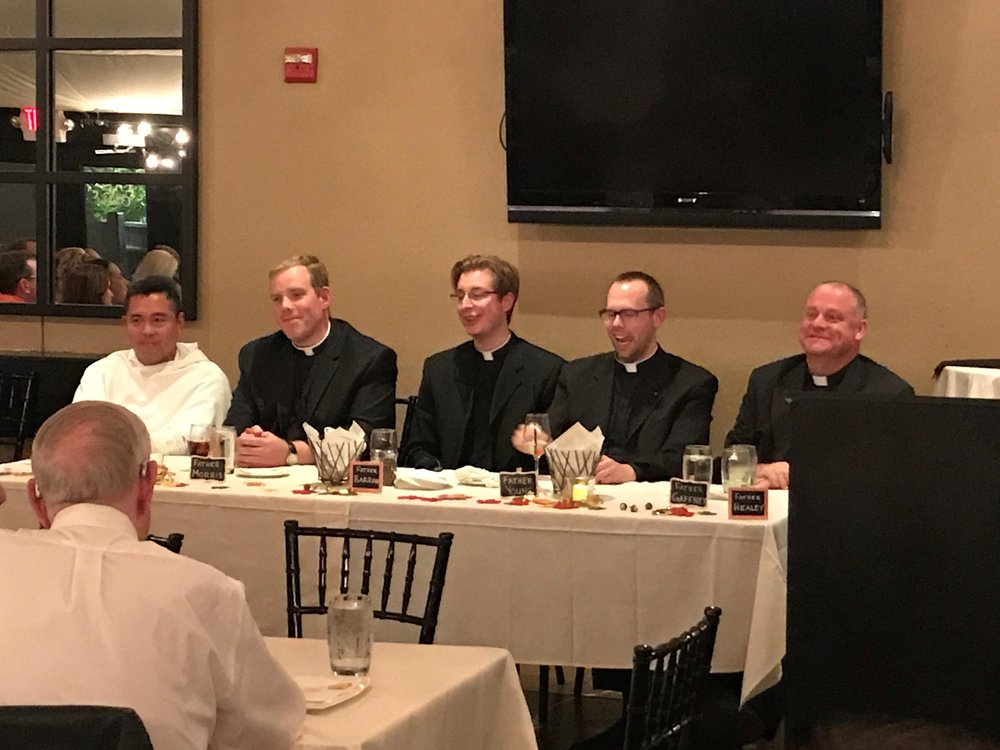Grille the Priests Panel:  Fr. Nicanor Austriacho,OP; Fr. Brian Morris; Fr. Joshua Barrow; Fr. Adam Young and Fr. David Gaffney.