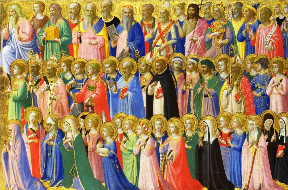 The Forerunners of Christ with Saints and Martyrs.  Painting by Fra Angelico C.1434
