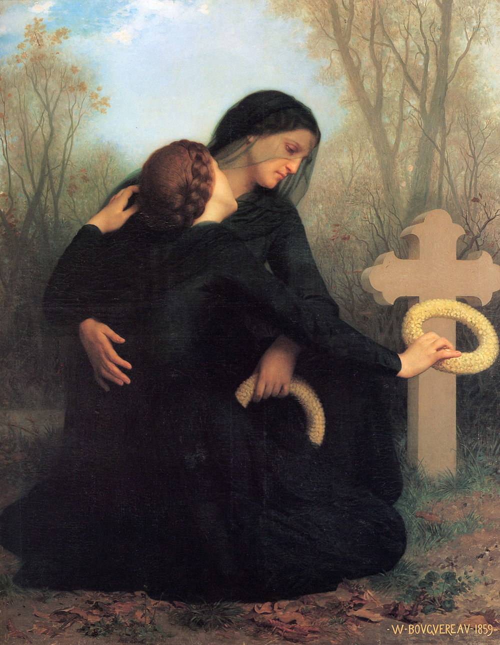 The Day of the Dead. Painting by  William-Adolphe Bouguereau  (1879)