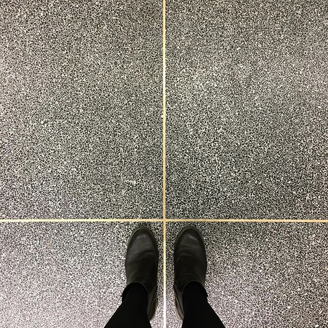 Sucker for that terrazzo brass detailing.  #lozidaze #belfast #themac #hacketthallmcknight #ihavethisthingwithfloors