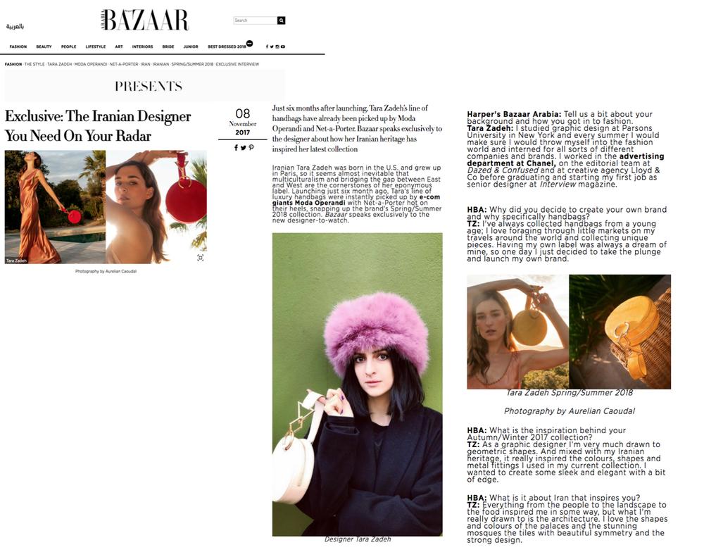Harper's Bazaar Arabia - November 2017