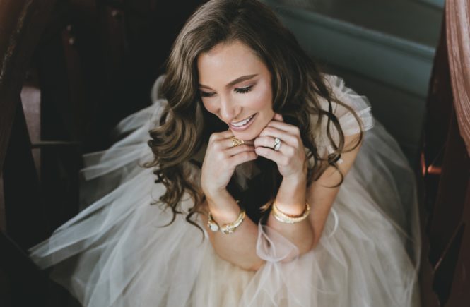 Shoptini.com - Shoptini wearing Ontavia Roulette 2018 Bridal Collection