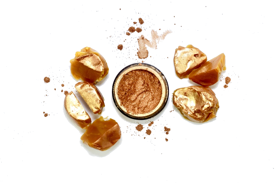 MIDAS | - These gorgeous Marble Caramel Chews make the perfect wingmen for Midas in all it's bronze sun-kissed glory. As one of our most universal shades, this glow is picture perfect on nearly any skin tone & looks good enough to eat.