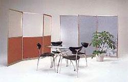 Mobilne zabudowy biurowe, ścianki przestawne, parawany.