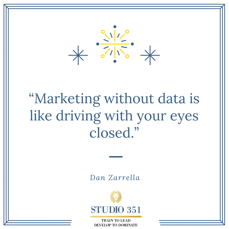 Marketing without data is like driving with your eyes closed. Dan Zarrella