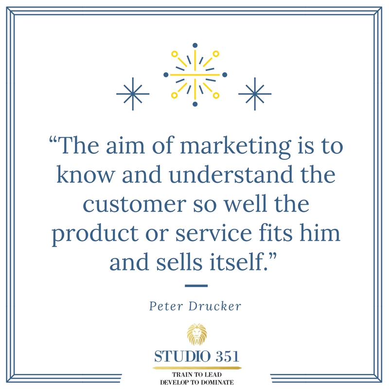 The aim of marketing is to know and understand the customer so well the product or service fits him and sells itself. Peter Drucker