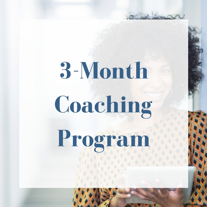 1-month coaching program options, plus: Private Facebook Group - In-depth Business Planning - In-depth Business Assessment - Product/Service Launch