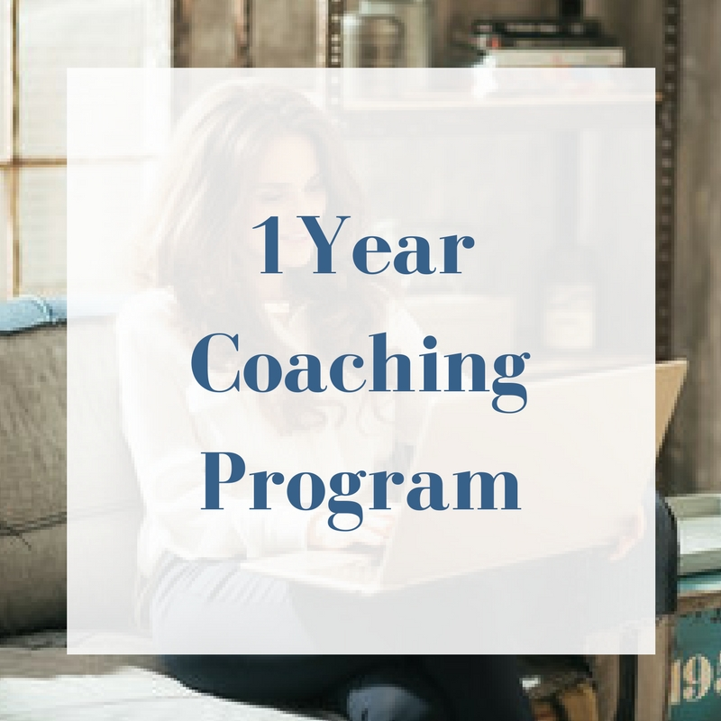 6-month coaching program, plus: - Private Facebook Group open only to 1-yr clients - 2 Hot Seat sessions - Free Book - Free Magazine Subscription - 3 Custom Selection (select a class from list of offerings)