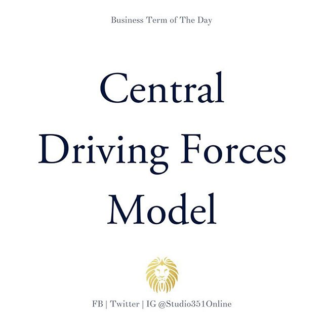 "Central Driving Forces Model: An entrepreneurial based model that considers the positives and negatives of three areas of the venture; founder(s), opportunities, and resources. The model then evaluates these areas regarding the ""fits and gaps"" that indicate correlating strengths or weaknesses for the venture. The CDF model also considers industry and market information in the overall analysis."