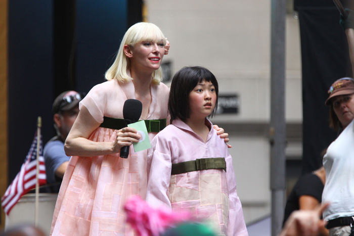 Tilda Swinton as Lucy Mirando in  Okja
