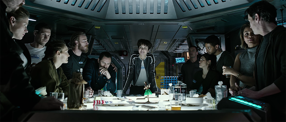 The main crew from  Alien: Covenant  (2017)