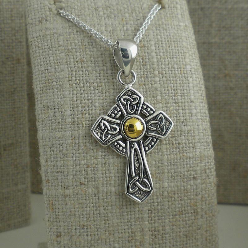 Celtic Cross Trinity Knot Pendant