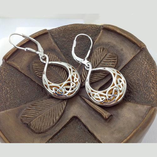 Celtic Window to the Soul Teardrop Earrings
