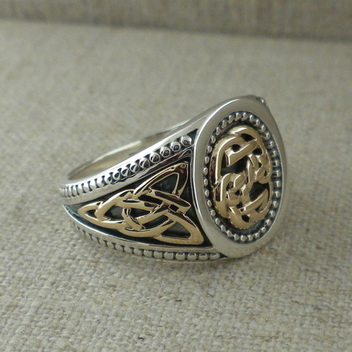 Celtic Lewis Knot Signet Ring