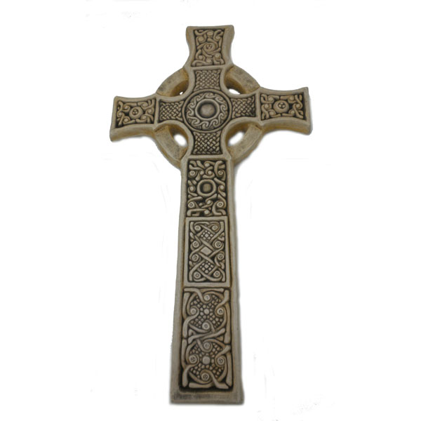 "Celtic St. John's Cross Isle of Iona by McHarp 15"" high"