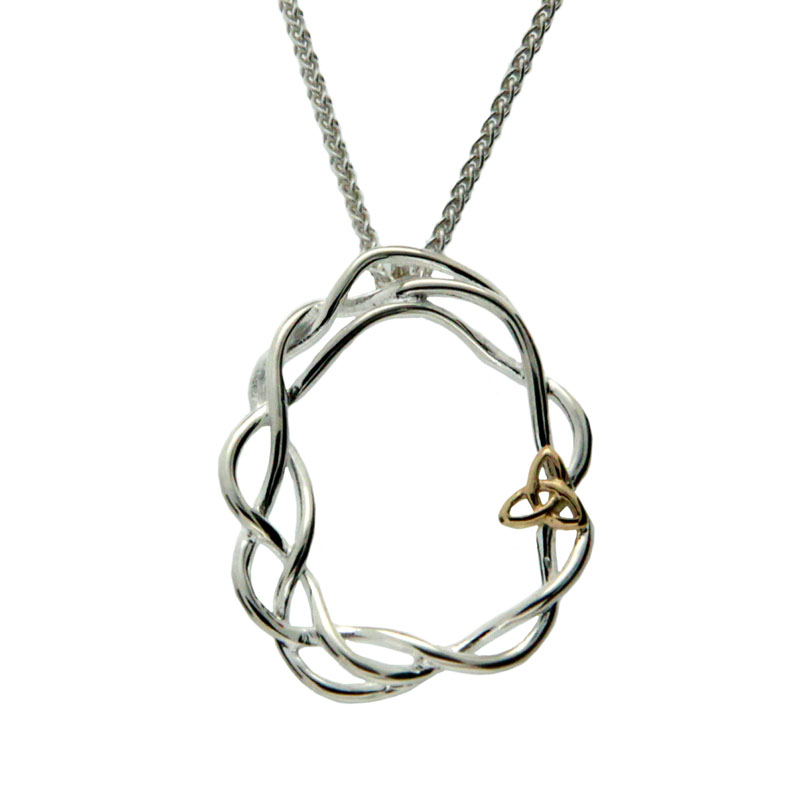 Celtic Cradle Pendant with 10K Trinity Knot