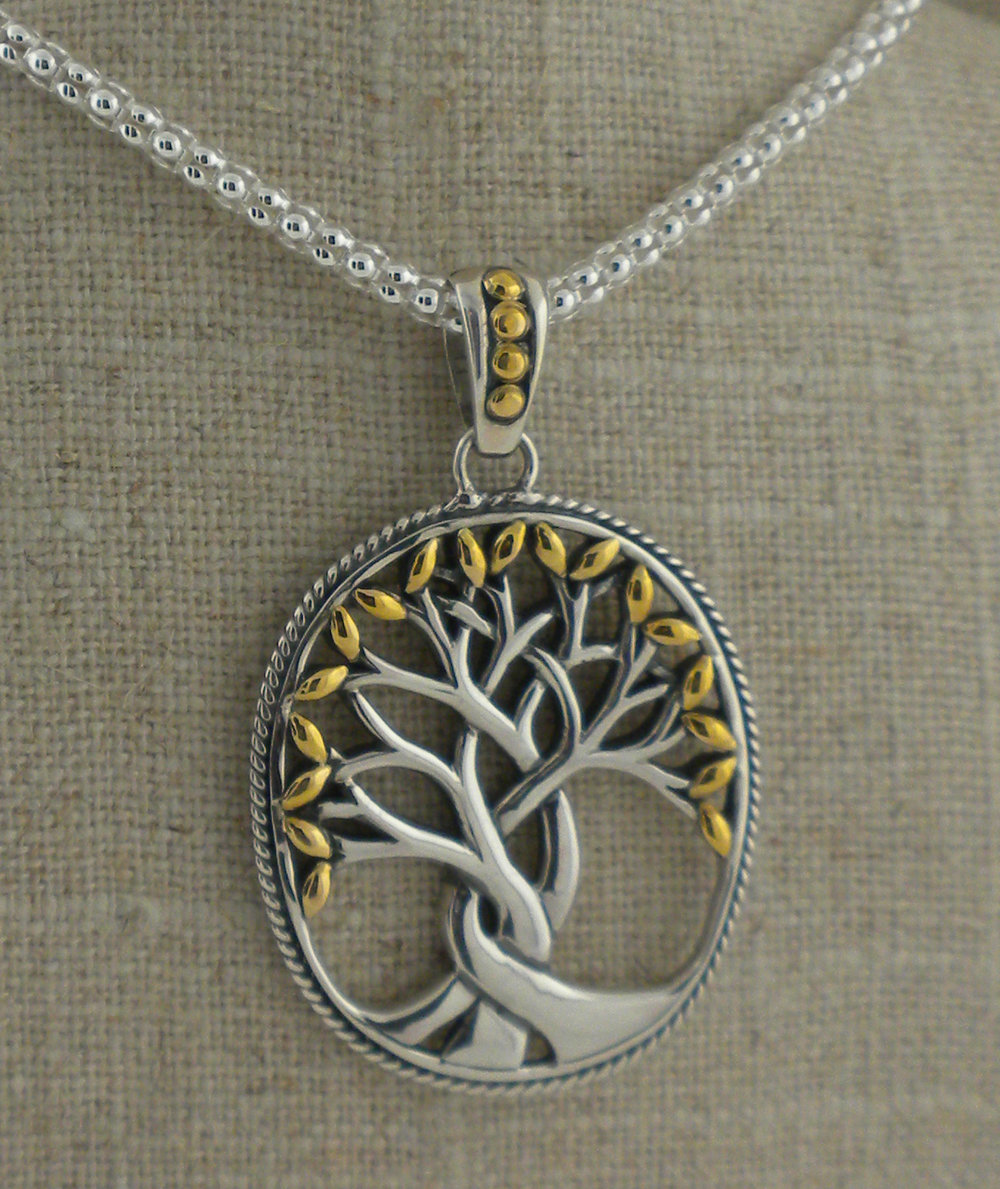 Keith Jack Celtic Tree of Life Pendant in Sterling Silver