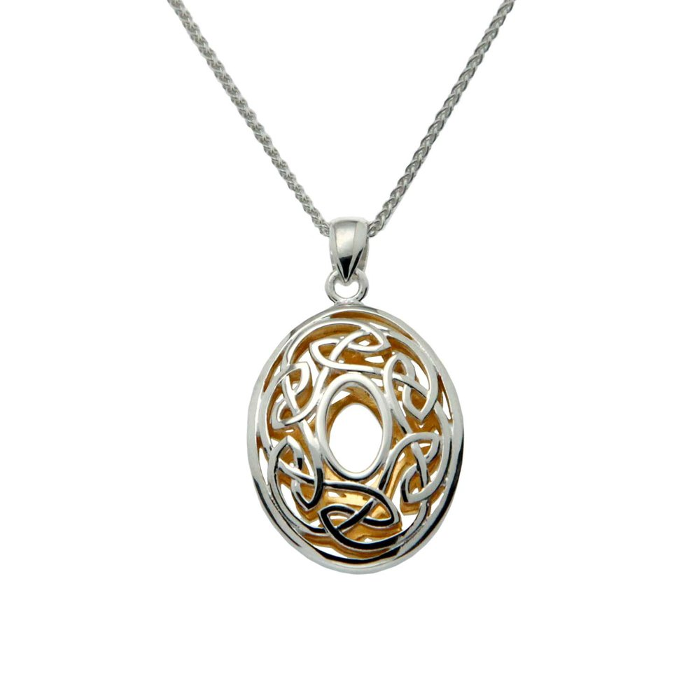 Oval Celtic Window to the Soul Pendant by Keith Jack