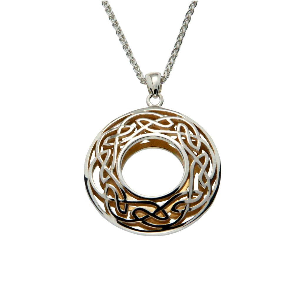 Celtic Window to the Soul Large Round Pendant