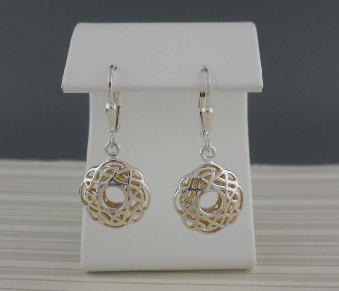 Celtic Window to the Soul Petite Round Earrings