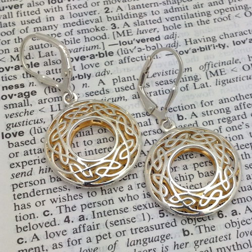 Celtic Window to the Soul Small Round Earrings by Keith Jack