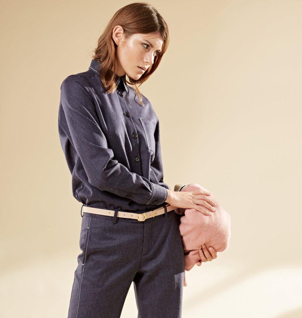 Anzug im Worker–Look