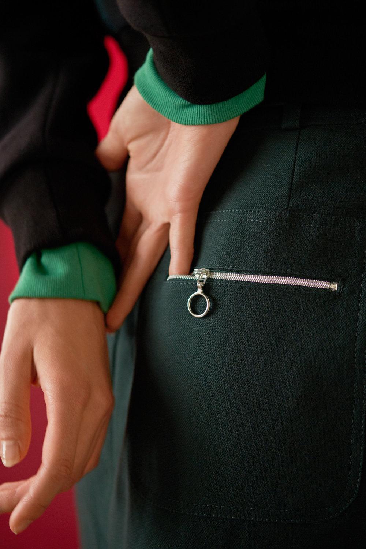 Baumwollrock mit Taschendetail hinten