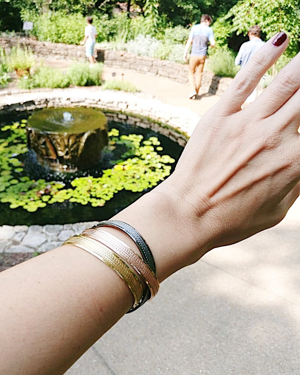 The Muse cuff is an absolute stunner and very much at home here at Cheekwood in Nashville.