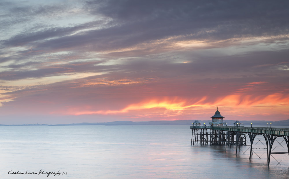 Fire Sky Over Clevedon Pier