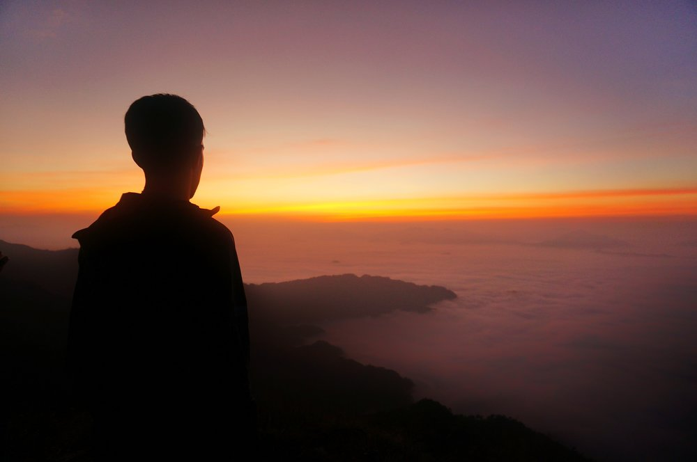 You can meditate while you're sunset gazing