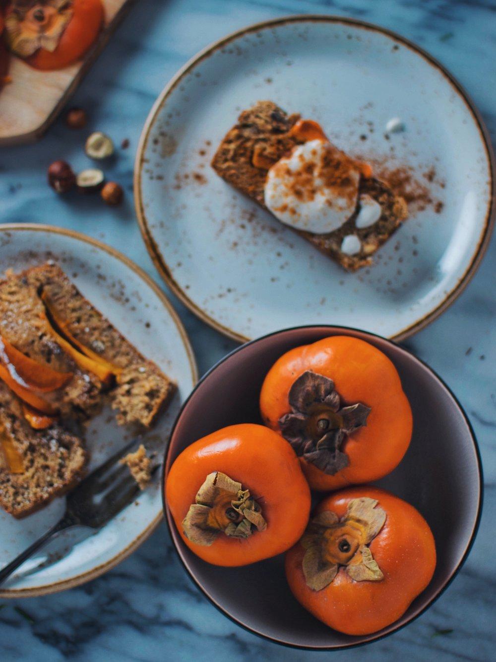 vegan persimmon bread