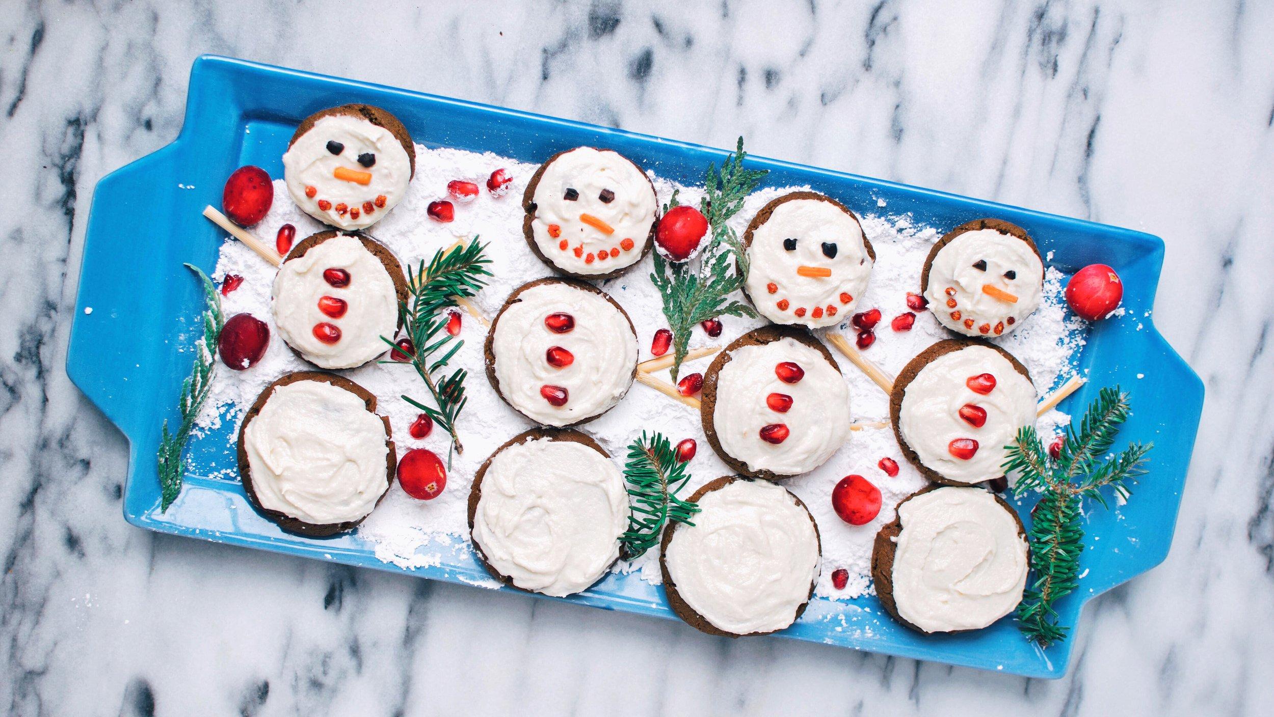 vegan chewy gingerbread cookies