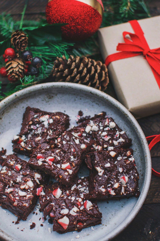 Peppermint Brownies - Vegan, Gluten-Free-Friendly