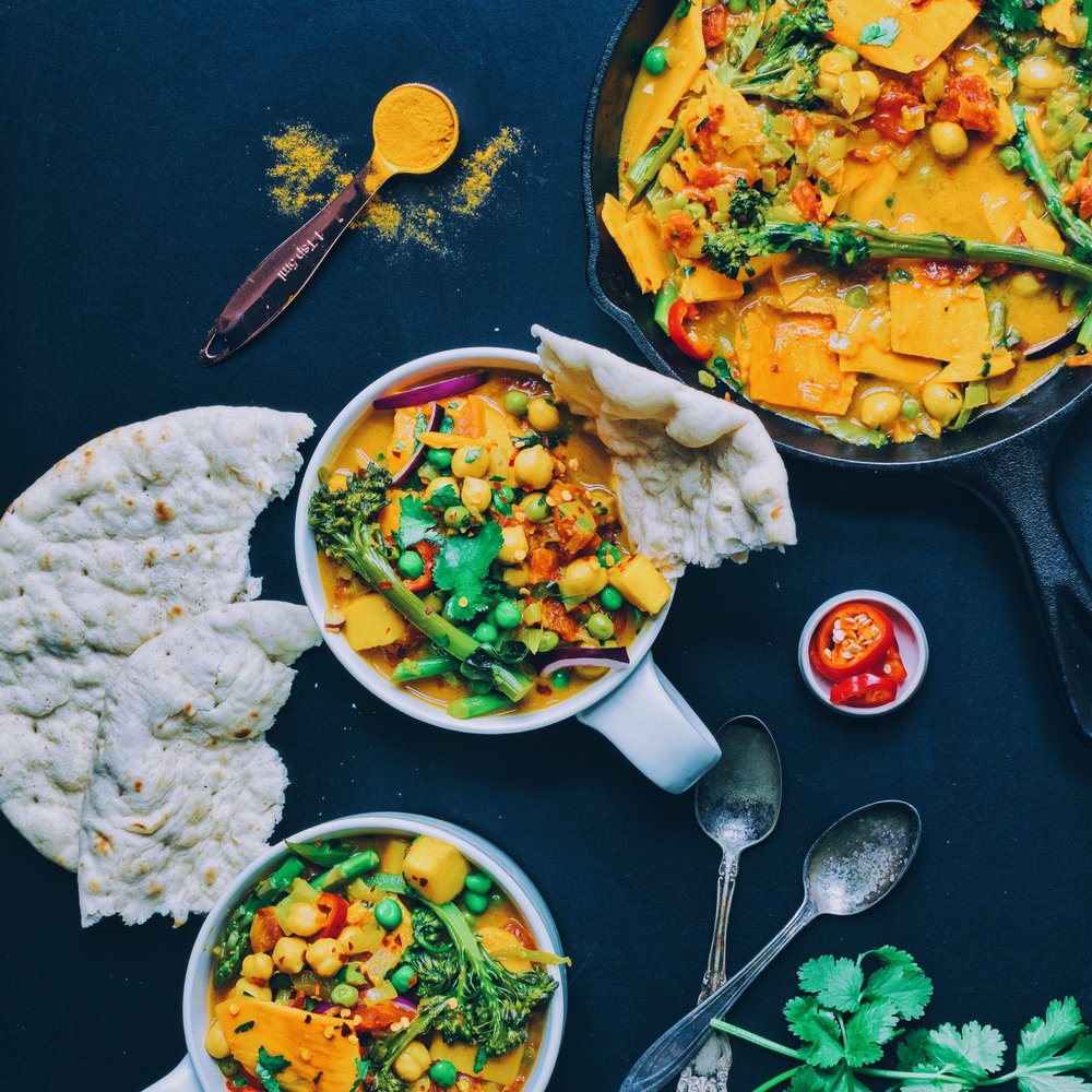 Turmeric Chickpea Curry - V, GF