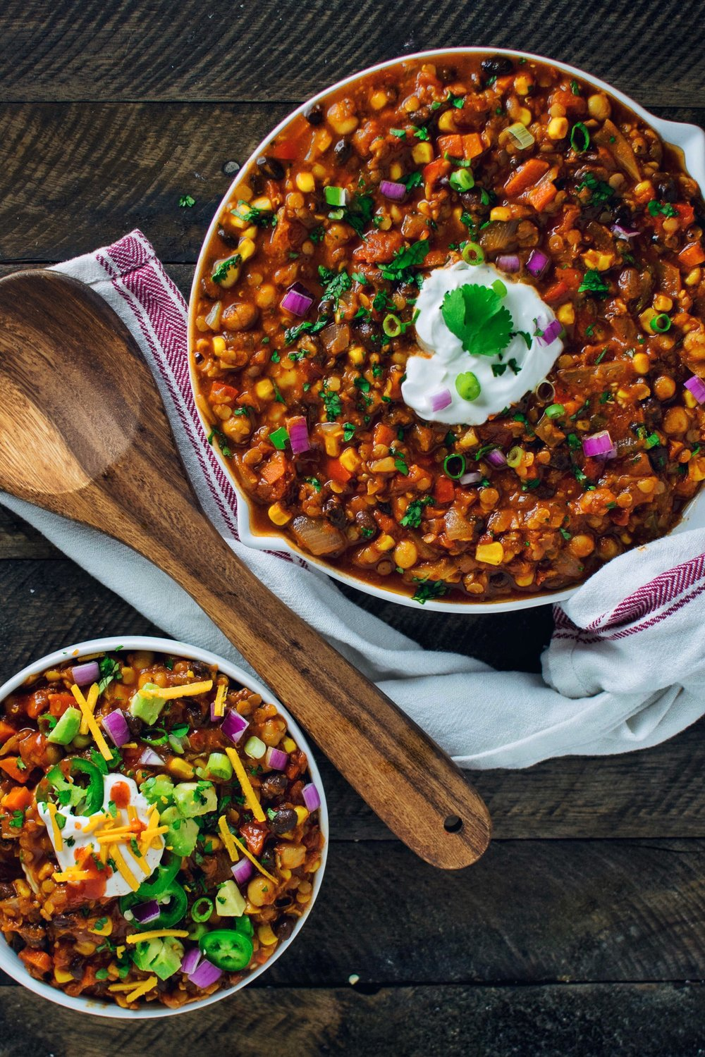 Lentil and Three Bean Chili - V, GF