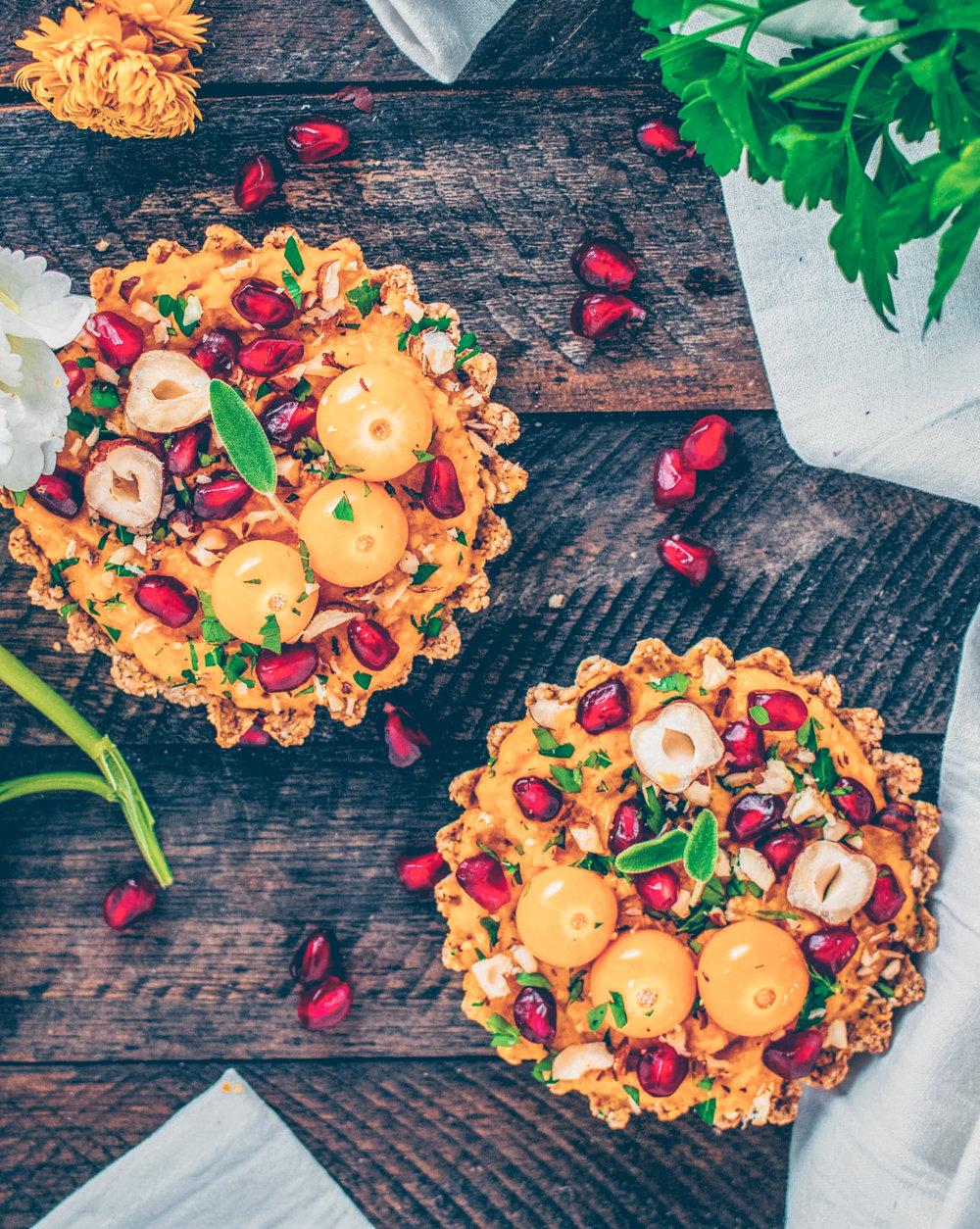 Savory Squash Tartlets - Vegan, Gluten-Free