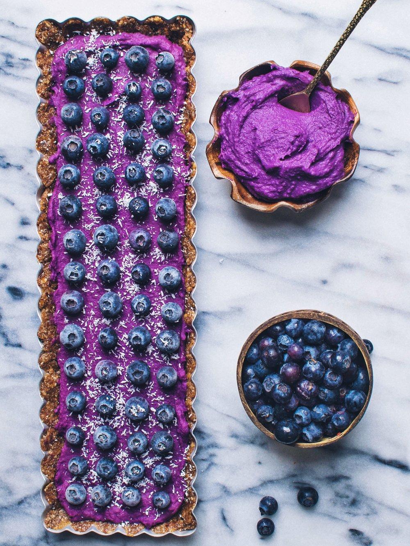 Purple Sweet Potato Tart - V, GF, P