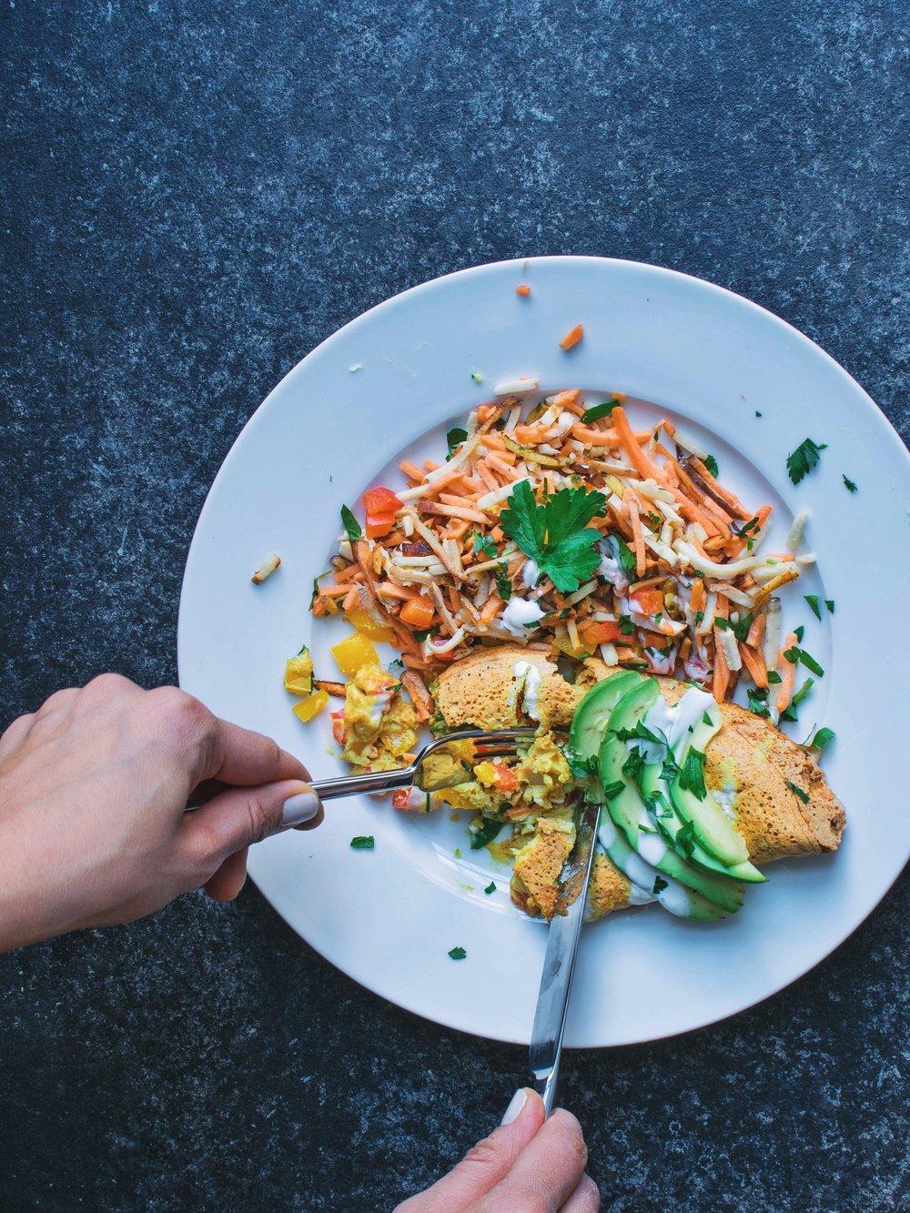 Chickpea Flour Omelette - Vegan, Gluten-Free