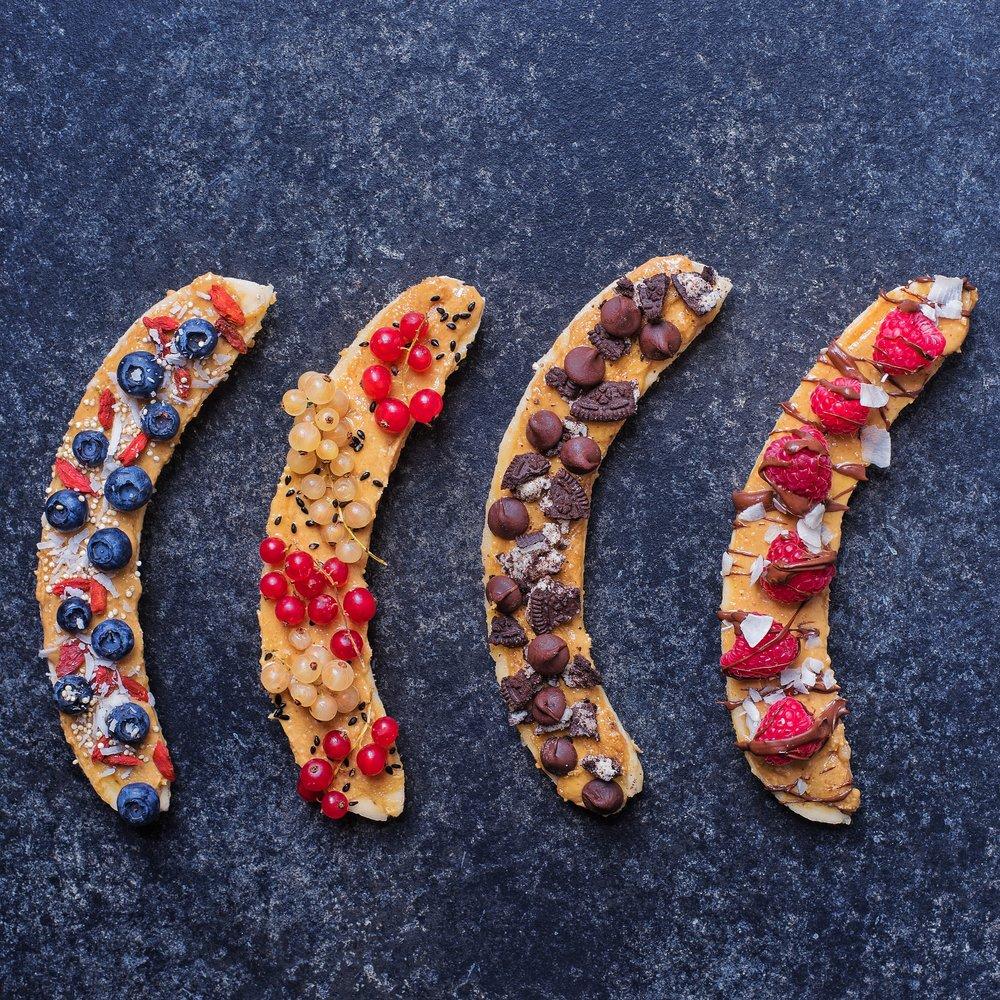 Protein Peanut Butter Banana Boats - Vegan, Gluten-Free