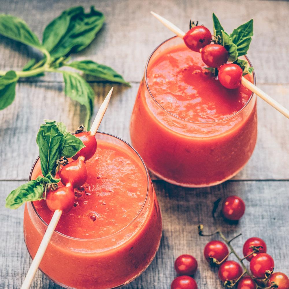 Iced Gazpacho - Raw Vegan, Gluten-Free, Paleo