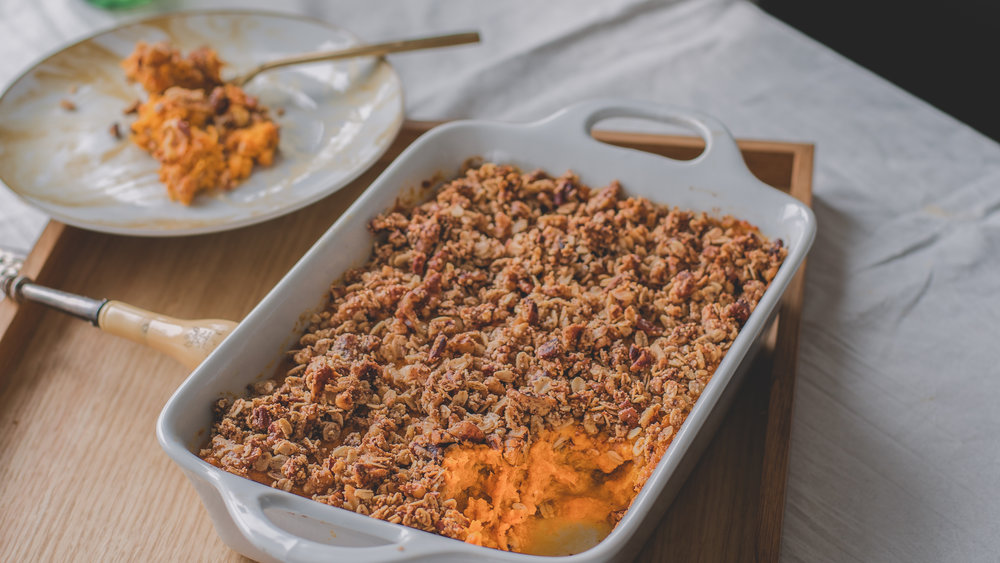Sweet Potato Casserole - V, GF