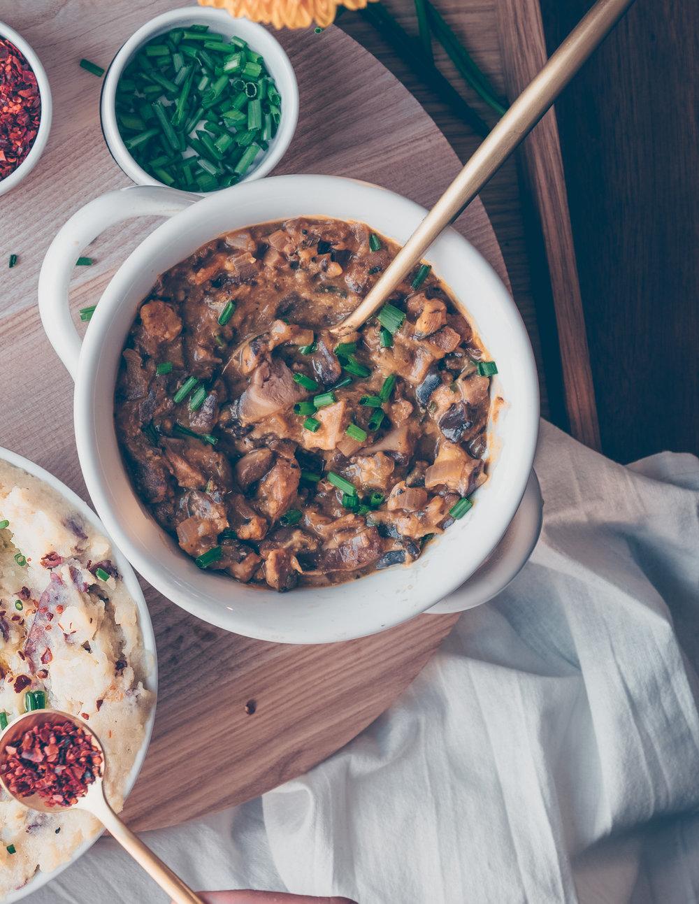 Mushroom Gravy - V, GF