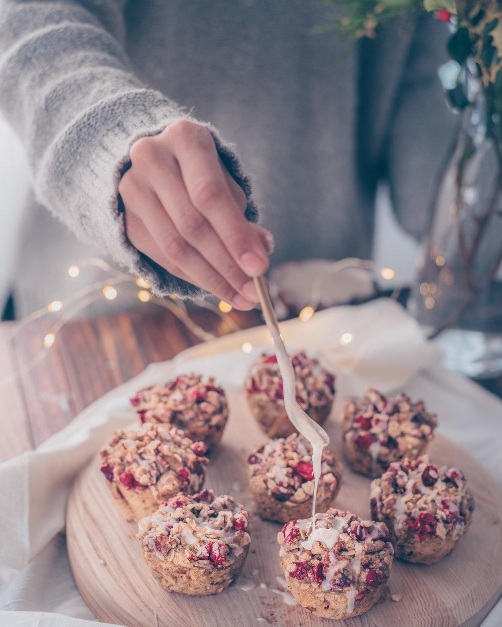 Cranberry Orange Streusel Muffins - V